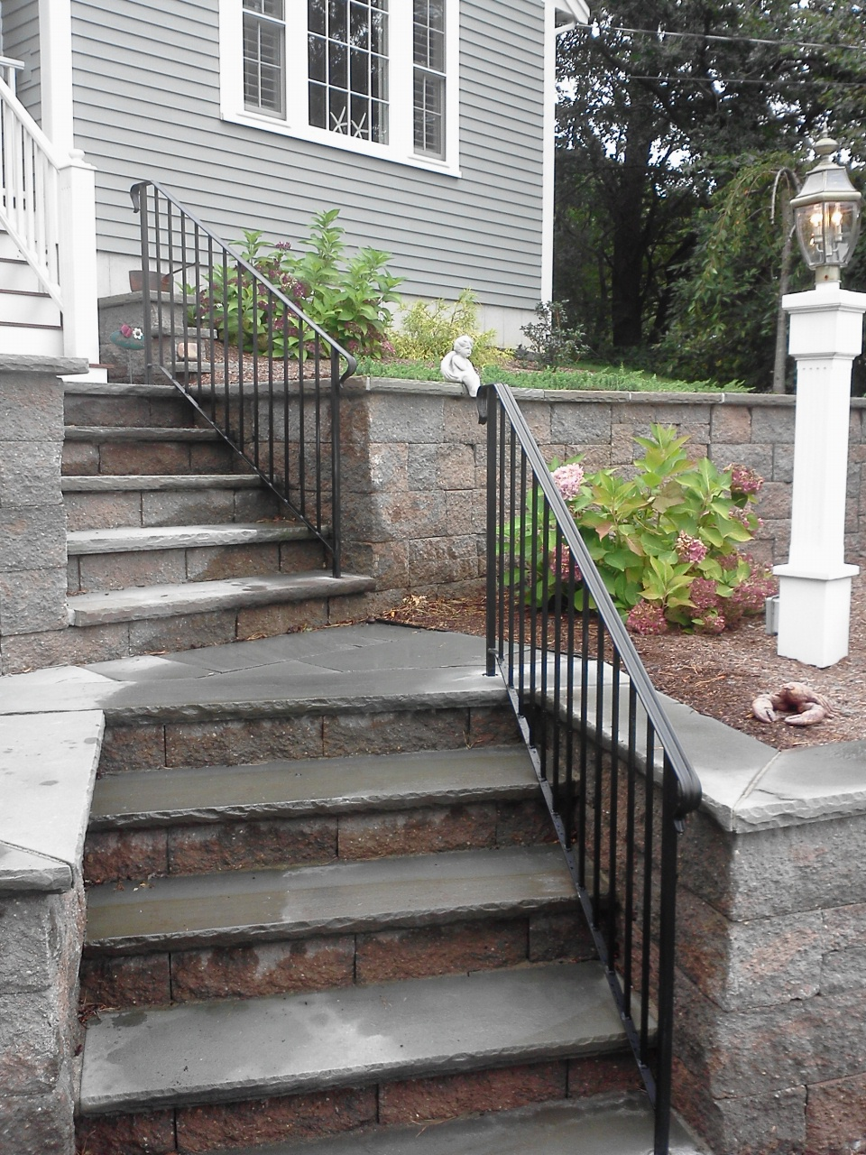 Garden steps outdoor steps and front steps on pinterest for Stone porches photos